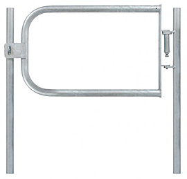 Fabricated Safety Gate & 2 Posts - R/H 33.7mm Tube - Self Closing