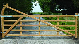 Yeoman Softwood Gate Kit 3.6m hang right
