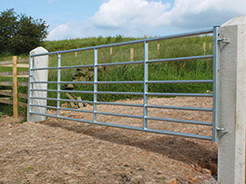 Metal Field Gate  with Spring Bolt Fastening