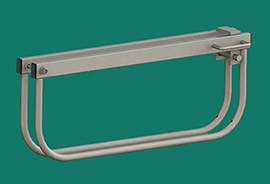 Padlockable Heavy Duty Drop Over Frame For Gate Pairs - Galvanised