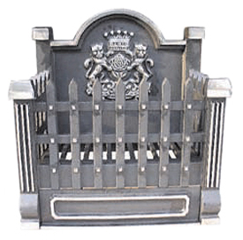 cast iron fire grate 430h x 410w x 250deep