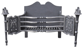 cast iron fire grate 420h x 820w x 340deep
