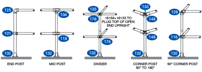 key clamp selector guide - LEVEL HANDRAIL