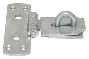 Vertical galvanised locking bar