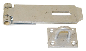 Heavy hasp and staple