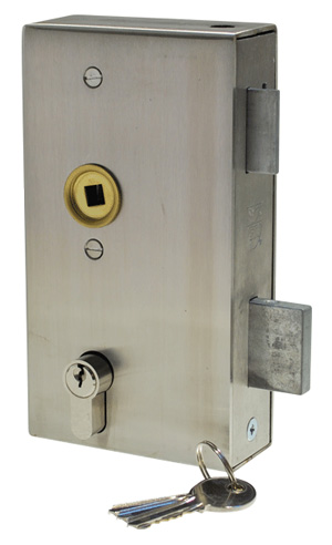 Double throw latch deadlock with stainless steel case